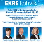 EKRE valimiste kohvik avab uksed 29. septembril
